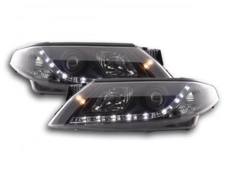 Scheinwerfer Set Daylight LED TFL-Optik Renault Laguna (Typ G) Bj. 01-05 schwarz