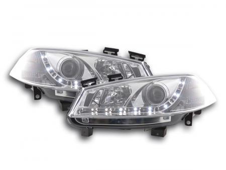 Scheinwerfer Set Daylight LED TFL-Optik Renault Megane 2 3/5-trg. Bj. 03-06 chrom