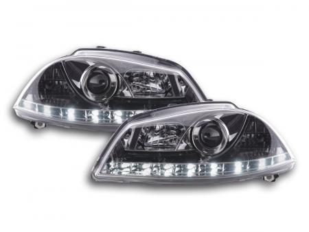 Scheinwerfer Set Daylight LED Tagfahrlicht Seat Ibiza 3 6L Bj. 02-08 chrom