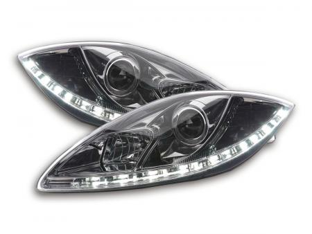 Scheinwerfer Set Daylight LED Tagfahrlicht Seat Leon 1P/Altea/Toledo 5P chrom