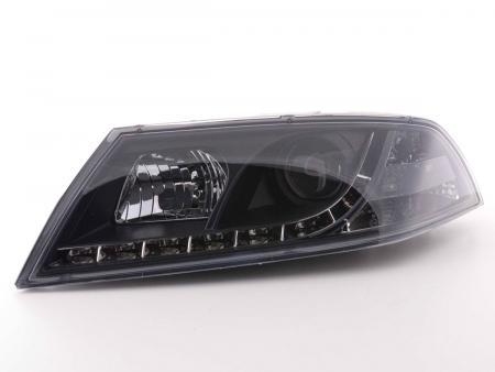 Scheinwerfer Set Daylight LED TFL-Optik Skoda Octavia Typ 1Z Bj. 04-08 schwarz