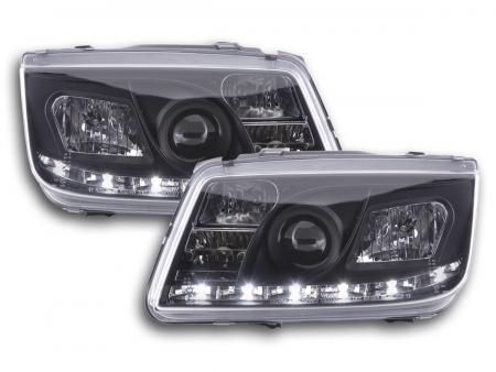 Scheinwerfer Set Daylight LED TFL-Optik VW Bora Typ 1J Bj. 99-04 schwarz