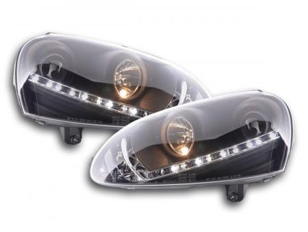 Scheinwerfer Daylight VW Golf 5 Bj. 03-08 schwarz