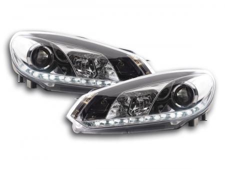 Scheinwerfer Set Daylight LED Tagfahrlicht VW Golf 6 Typ 1K Bj. 08- chrom