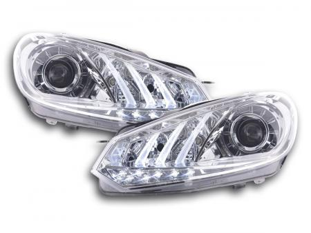 Scheinwerfer Set Daylight LED TFL-Optik VW Golf 6 Bj. 08- chrom
