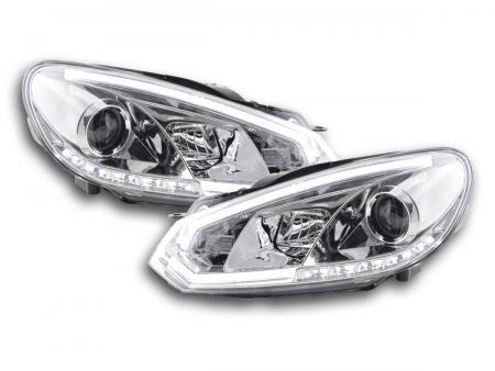 Scheinwerfer Set Daylight LED Tagfahrlicht VW Golf 6 Bj. 08-12 chrom
