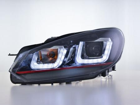 Scheinwerfer Daylight LED Tagfahrlicht  VW Golf 6 Bj. 08-12 schwarz GTI-Look