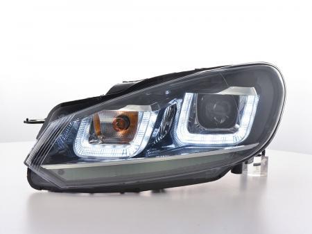 Scheinwerfer Set Daylight LED Tagfahrlicht VW Golf 6 Bj. 08-12 schwarz