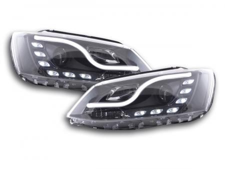 Scheinwerfer Set Daylight LED Tagfahrlicht VW Jetta 6 Bj. 11- schwarz