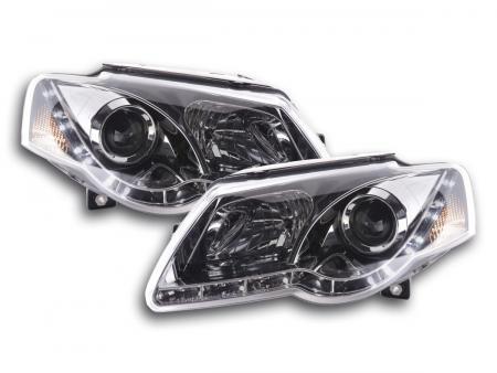 Scheinwerfer Set Daylight LED TFL-Optik VW Passat Typ 3C Bj. 05- chrom