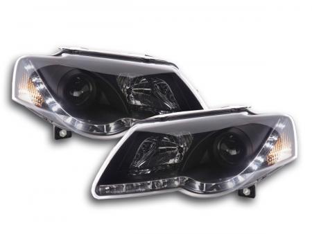 Scheinwerfer Set Daylight LED TFL-Optik VW Passat Typ 3C Bj. 05- schwarz