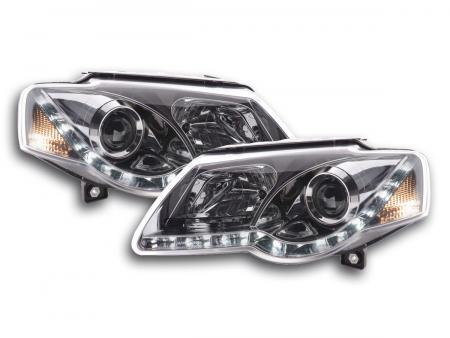 Scheinwerfer Set Daylight LED Tagfahrlicht VW Passat B6 3C chrom