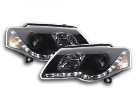 Scheinwerfer Set Daylight LED Tagfahrlicht VW Passat B6 3C schwarz