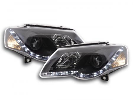Scheinwerfer Set Daylight LED Tagfahrlicht VW Passat B6 3C Bj. 05-10 schwarz