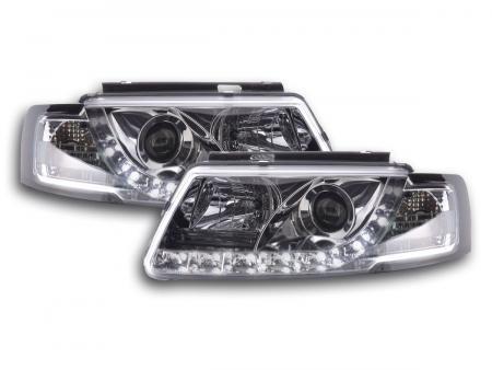 Scheinwerfer Set Daylight LED TFL-Optik VW Passat Typ 3B Bj. 97-00 chrom
