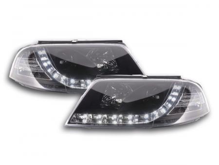 Scheinwerfer Set Daylight LED TFL-Optik VW Passat Typ 3BG Bj. 00-05 schwarz
