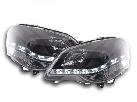 Scheinwerfer Set Daylight LED Tagfahrlicht VW Polo 9N3 Bj. 05-09 schwarz