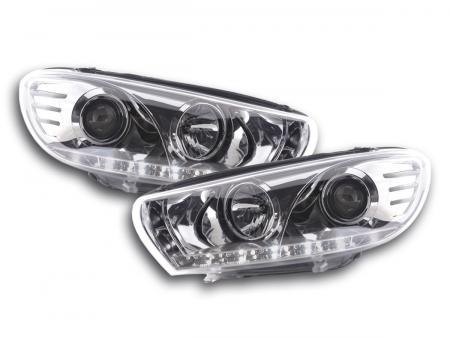 Scheinwerfer Set Daylight LED TFL-Optik VW Scirocco 3 Typ 13 Bj. 08- chrom