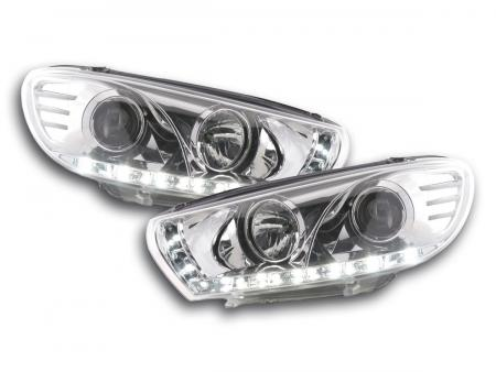 Scheinwerfer Set Daylight LED Tagfahrlicht VW Scirocco 3 Typ 13 chrom