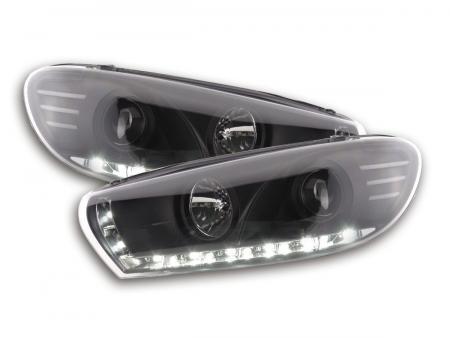 Scheinwerfer Set Daylight LED Tagfahrlicht VW Scirocco 3 Typ 13 schwarz