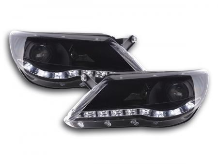 Scheinwerfer Set Daylight LED TFL-Optik VW Tiguan schwarz