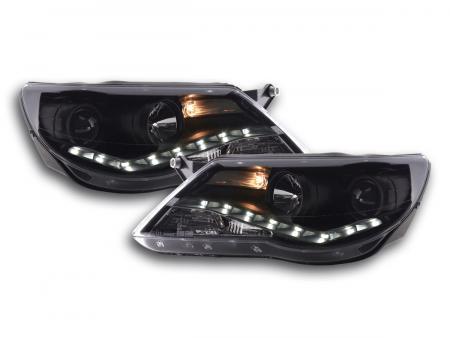 Scheinwerfer Set Daylight LED Tagfahrlicht VW Tiguan Bj. 07-11 schwarz