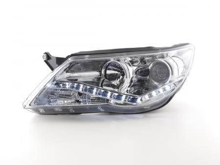 Scheinwerfer gebraucht Daylight VW Tiguan Bj. 07-11 chrom