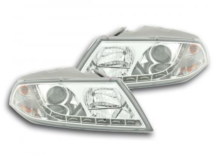 Scheinwerfer Set Daylight LED TFL-Optik Skoda Octavia Typ 1Z Bj. 04-08 chrom