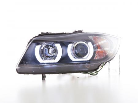 Scheinwerfer Set gebraucht Xenon Daylight LED TFL-Optik BMW 3er E90/E91 Bj. 05-08 schwarz