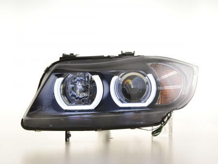 Scheinwerfer Set Xenon Daylight LED TFL-Optik BMW 3er E90/E91 Limo/Touring Bj. 05-08 schwarz