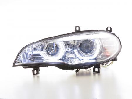 Scheinwerfer Set Xenon Daylight LED Tagfahrlicht BMW X5 E70 Bj. 06-10 chrome