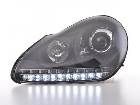 Scheinwerfer Set Xenon Daylight LED TFL-Optik Porsche Cayenne Bj. 03-07 schwarz