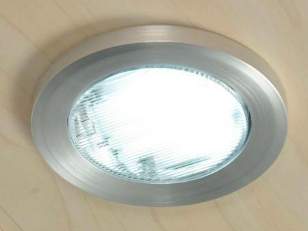 Einbauleuchte-rund Maße ca. Ø 10,5 x 3,2 cm, Silber