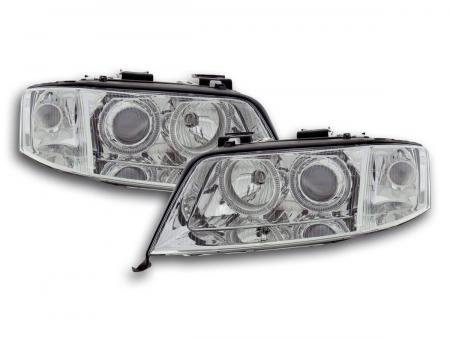 tuning shop scheinwerfer set angel eyes audi a6 typ 4b. Black Bedroom Furniture Sets. Home Design Ideas