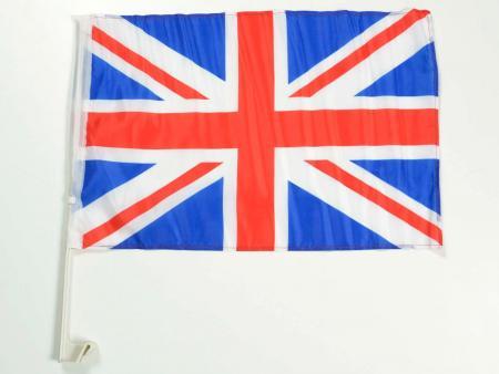 Autofahne Autoflagge Großbritannien Fahne mit Halterung für Seitenfenster 30x45cm