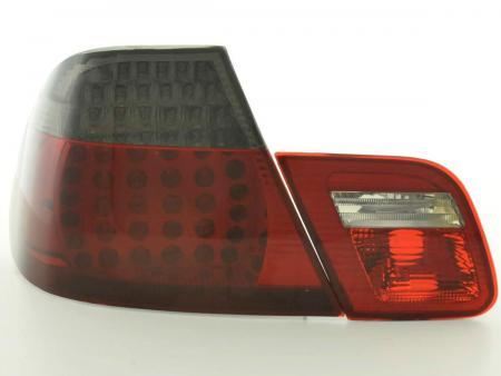 LED Rückleuchten Set BMW 3er Coupe Typ E46 Bj. 99-03 schwarz/rot