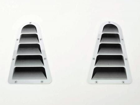 Lufteinlass Aufkleber Set 2x ca. 180 x 95 mm universal