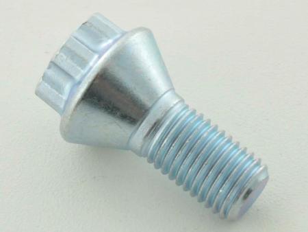 Radschraube einzeln Schaftlänge 21mm Kegelbund Kurzkopf silber M12x1,5
