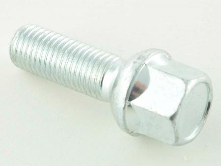 Radschraube einzeln Schaftlänge 21mm Kugelbund silber M12x1,5