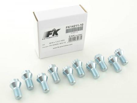 Radschrauben Set (10 Stk.) Schaftlänge 21mm Kegelbund silber M14x1,5