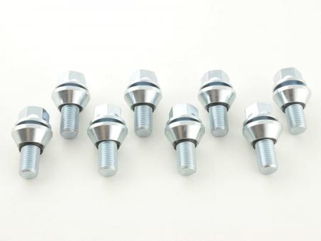 Radschrauben Set (8 Stk.) Schaftlänge 21mm Kegelbund silber M14x1,5