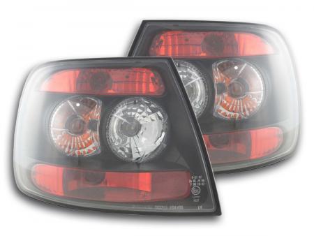 Rückleuchten Heckleuchten Set Audi A4 Limo Typ B5  95-00 schwarz