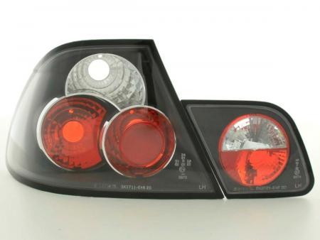 Rückleuchten Set BMW 3er Coupe Typ E46 Bj. 97-02 schwarz