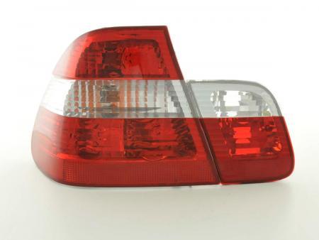 Rückleuchten Set BMW 3er Limo Typ E46 Bj. 98-01 weiß/rot