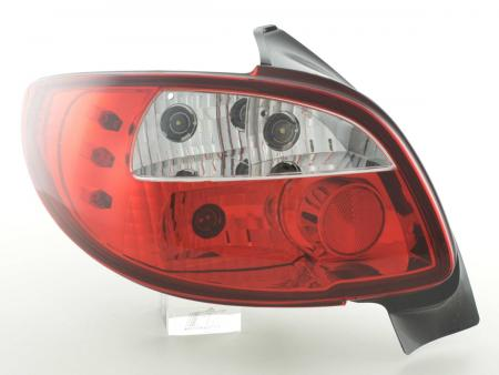 Rückleuchten Heckleuchten Set Peugeot 206 Typ 2*** Bj. 98-05 klar/rot