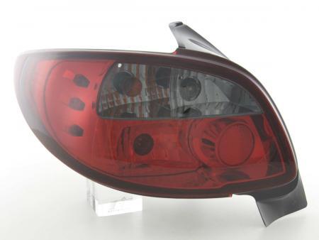 Rückleuchten Heckleuchten Set Peugeot 206 Typ 2*** Bj. 98-05 schwarz/rot