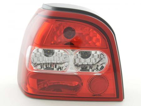 Rückleuchten Heckleuchten Set VW Golf 3 Typ 1HXO  92-97 weiß/rot