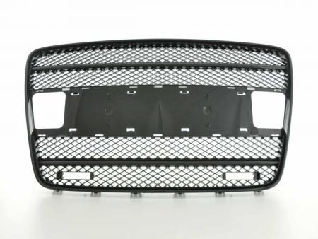 Sportgrill mit Positionslicht Frontgrill passend für Audi Q7 Typ 4L Bj. 05-09 schwarz
