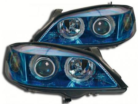 Scheinwerfer Angel Eyes Opel Astra G Bj. 98-03 blauchrom