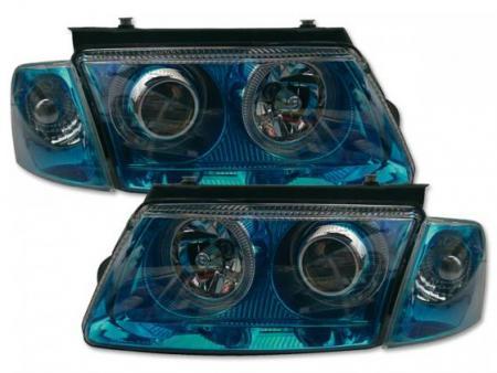 Scheinwerfer Angel Eyes VW Passat Typ 3B Bj. 97-00 blauchrom